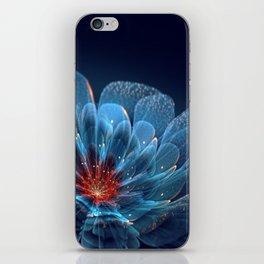 3D Blue Flower V2 iPhone Skin