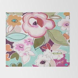 Dufy floral  Throw Blanket