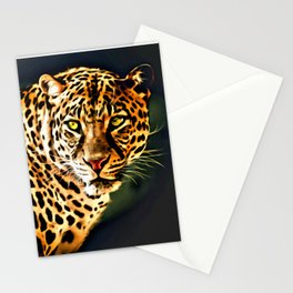 Leopard Digital Painting Stationery Cards