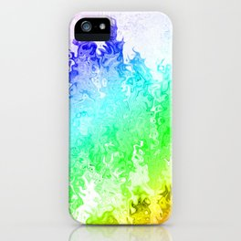 Rainbow dripped paint iPhone Case