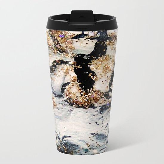 gray&gold  marble Metal Travel Mug