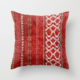 TRADITIONAL BULGARIAN FOLK PATTERN  Throw Pillow