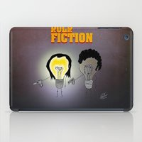 movie poster iPad Cases featuring Bulb Fiction - Movie Poster by totemxtotem