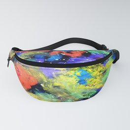 Colorful Chaos painting Fanny Pack
