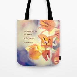 Begin with Joy Tote Bag