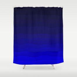 Deep Rich Sapphire Ombre Shower Curtain