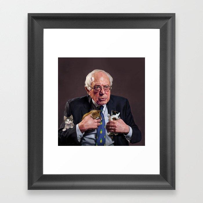 Bernie and Kittens Gerahmter Kunstdruck