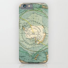 See Atlas 1906 - German Sea Atlas - Antarctica, Cape Town, Magellan Strait, Hobart, Port Elizabeth iPhone Case