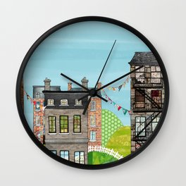 Houses are Homes Wall Clock