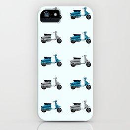 Lambretta GP Blue and White iPhone Case