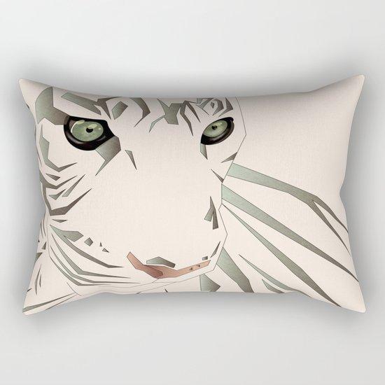 Tiger's Tranquility Rectangular Pillow