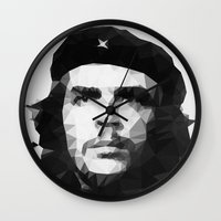 che Wall Clocks featuring Che by Poly Iconik Art