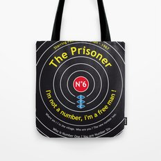 The Prisoner - Patrick McGoohan Vintage Decoration Print Posters Tote Bag