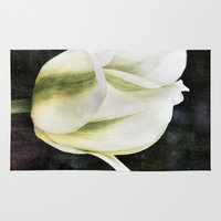 tulip Area & Throw Rugs featuring Tulip by Christine baessler