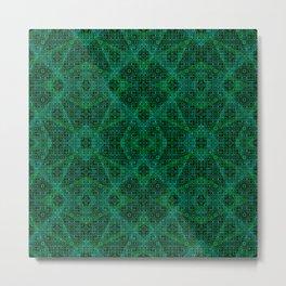 Green Diamonds Metal Print