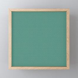 Stars On Green Christmas Pattern Framed Mini Art Print