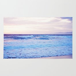 Purple Sunset over Hermosa Beach, Los Angeles  Rug