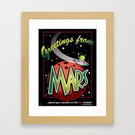 Greetings from Mars! Framed Art Print