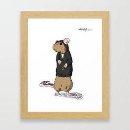 Hood-Rat Framed Art Print
