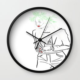 Lou Teasedale Wall Clock