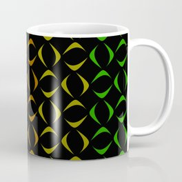 Pattern of multi-colored rhombuses and triangles. Coffee Mug