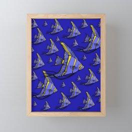 Angelfish Blue Framed Mini Art Print