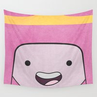 bubblegum Wall Tapestries featuring Princess Bubblegum by Some_Designs