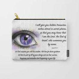Galaxy eye - Isaiah 45, 3 Carry-All Pouch