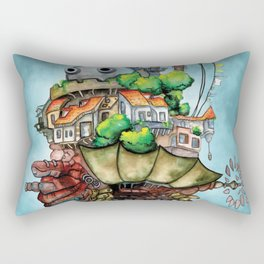 Howl's Moving Castle watercolor Rectangular Pillow