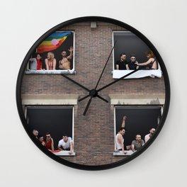 Watching the Pride Parade Wall Clock