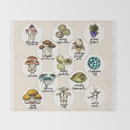 Skyrim Ingredient Illustrations Vol. 1 Throw Blanket