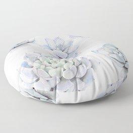 Blue Succulents Floor Pillow