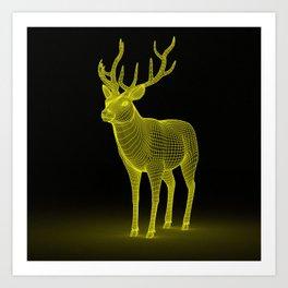 numeric deer 4 Art Print