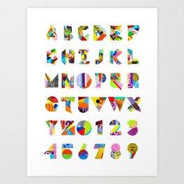 Collage Font 1 Art Print