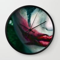joker Wall Clocks featuring Joker by Imustbedead
