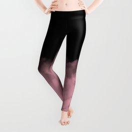 Black with Pink Minimal Leggings