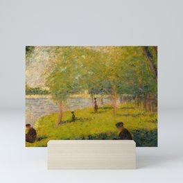 "Georges Seurat ""A Sunday on La Grande Jatte (study)"" (1884) Mini Art Print"
