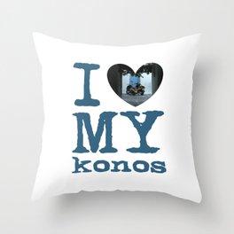 Love Mykonos Throw Pillow