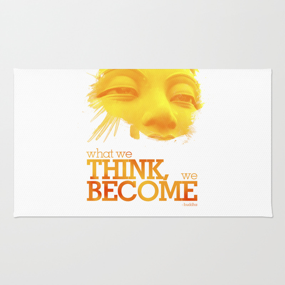What We Think We Become Rug by Champagne RUG961650