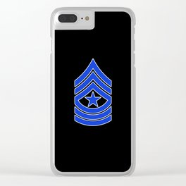 Sergeant Major (Police) Clear iPhone Case