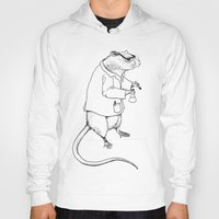 lab Hoodies featuring Lab Rat by Dylana R. Pinter