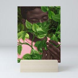 Green Mask Mini Art Print