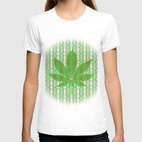 marijuana T-shirts featuring Marijuana Leaf by Trusty Russ Tees