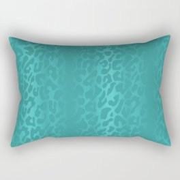 Light Blue Leopard Print Rectangular Pillow