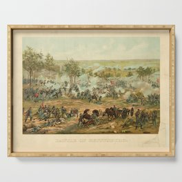Civil War Battle of Gettysburg July 1-3 1863 by Paul Philippoteaux Serving Tray