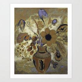 Etruscan Vase with Flowers - Odilon Redon Art Print