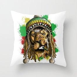 Lion Larnwar Throw Pillow