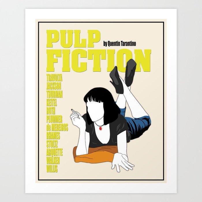 Pulp Fiction Minimalist Movie Poster Art Print