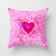 Love || watercolor Throw Pillow