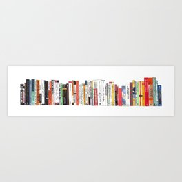 Bookshelf Painting Art Print